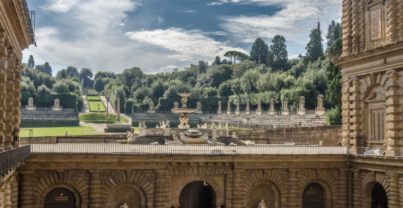 A view from Palazzo Pitti's courtyard