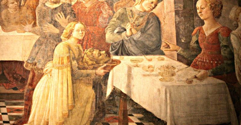 Frescoes by Filippo Lippi inside Prato Cathedral