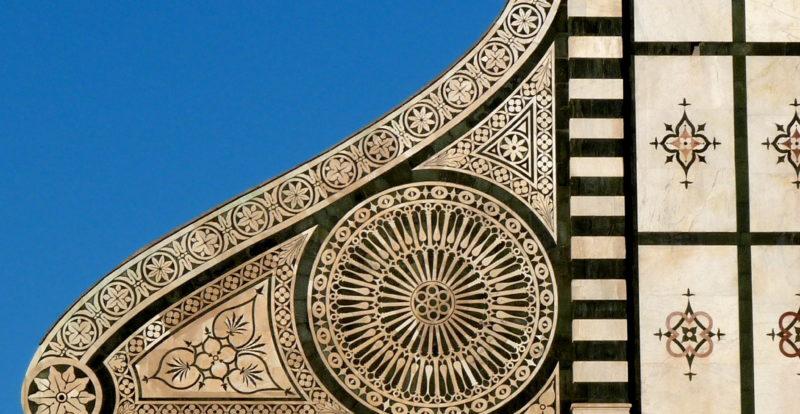 A detail on the façade of Santa Maria Novella church