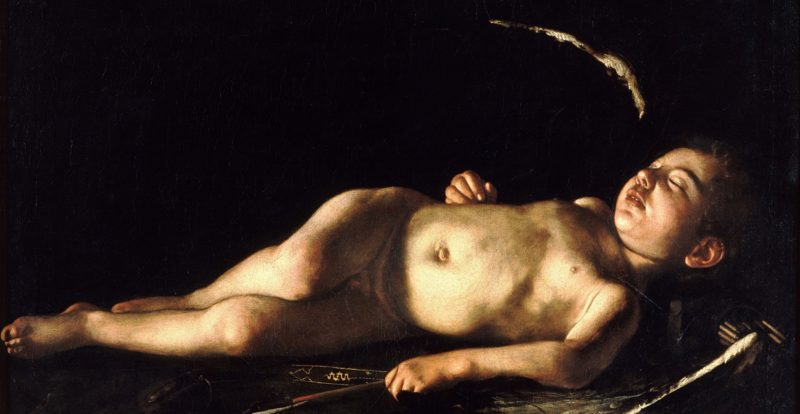 Sleeping Cupid by Caravaggio
