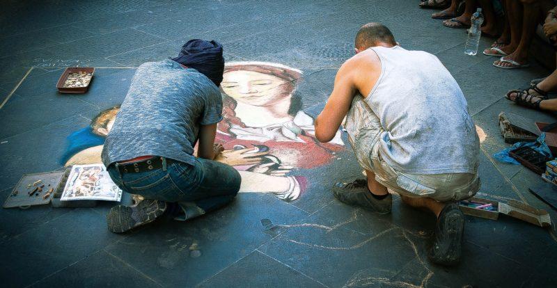 "Street artists called ""Madonnari"""