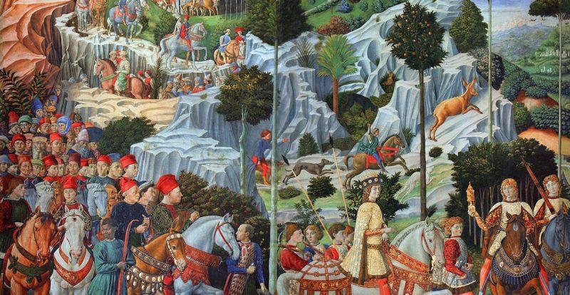 Palazzo Medici, affreschi della Cappella dei Magi di Benozzo Gozzoli