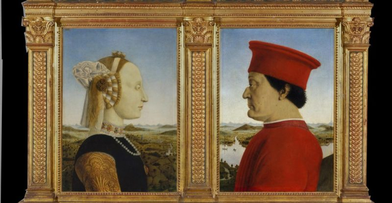 The Duke and Duchess of Urbino by Piero della Francesca