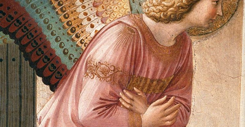 A detail of the 'Annunciation' by Fra Angelico