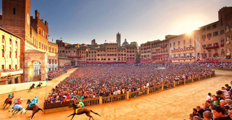 The Palio horse race in Siena