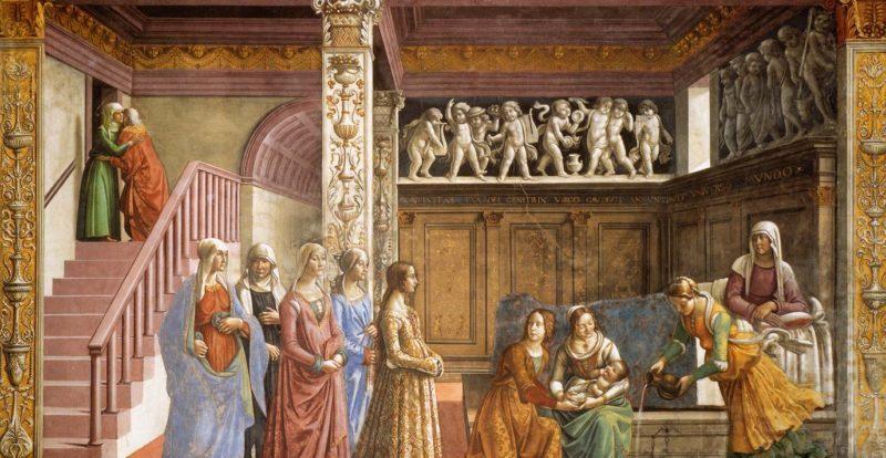Santa Maria Novella church, frescoes by Ghirlandaio
