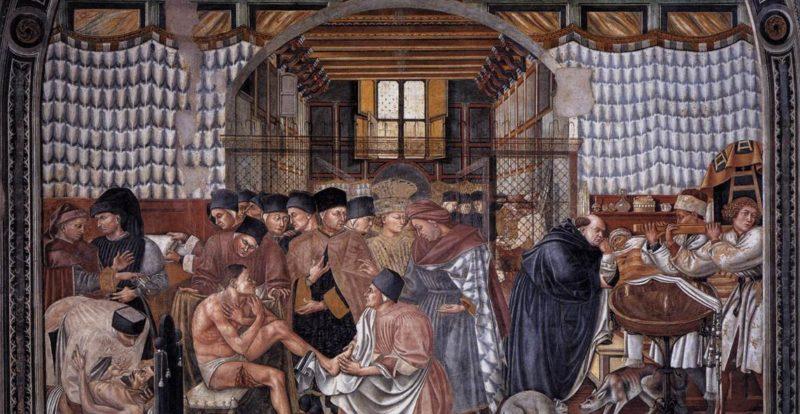Frescoes in the Scala Hospital in Siena
