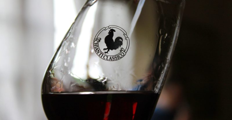 A glass of Chianti wine