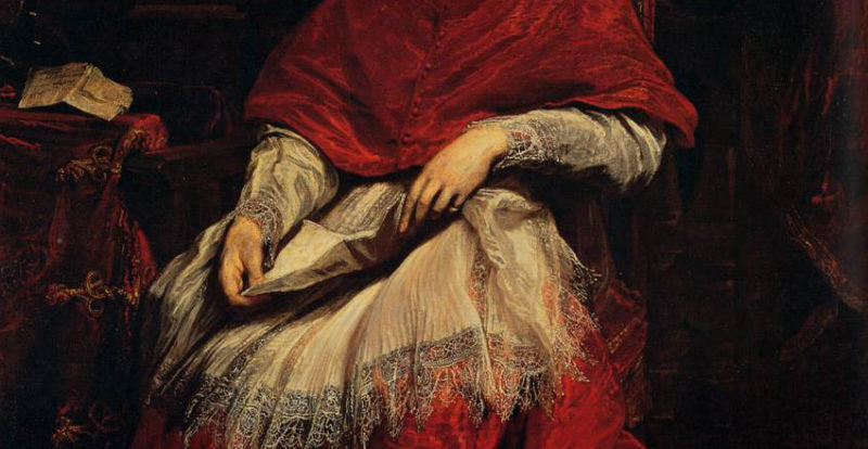 Portrait of Cardinal Bentivoglio by Van Dyck