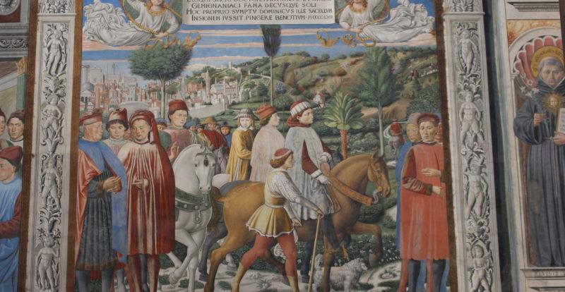 Frescoes inside Sant'Agostino Church in San Gimignano