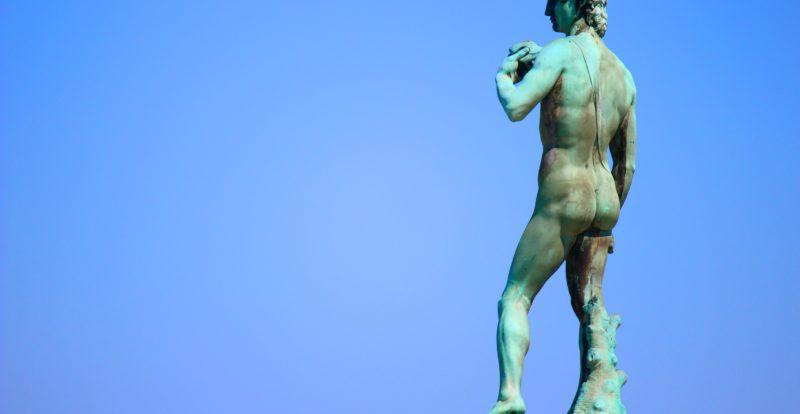 Bronze copy of Michelangelo's David
