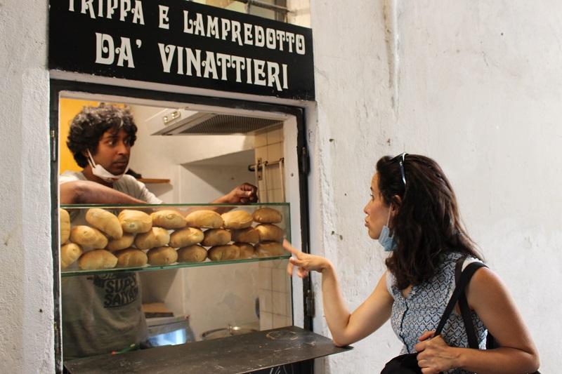 nell'immagine trippa e lampredotto da vinattieri street food dove mangiare bene a Firenze