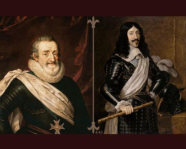 nella foto sono ritratti enrico IV e luigi XIII rispettivamente marito e figlio di maria dei medici regina di francia