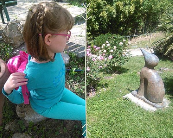 una bambina si siede a riposare al giardino delle rose  uno dei luoghi perfetti per visitare firenze con i bambini