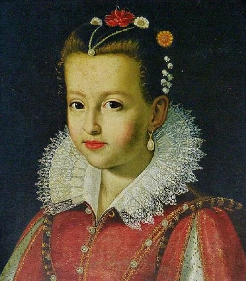 nella foto si vede Maria dei Medici regina di francia quando era bambina