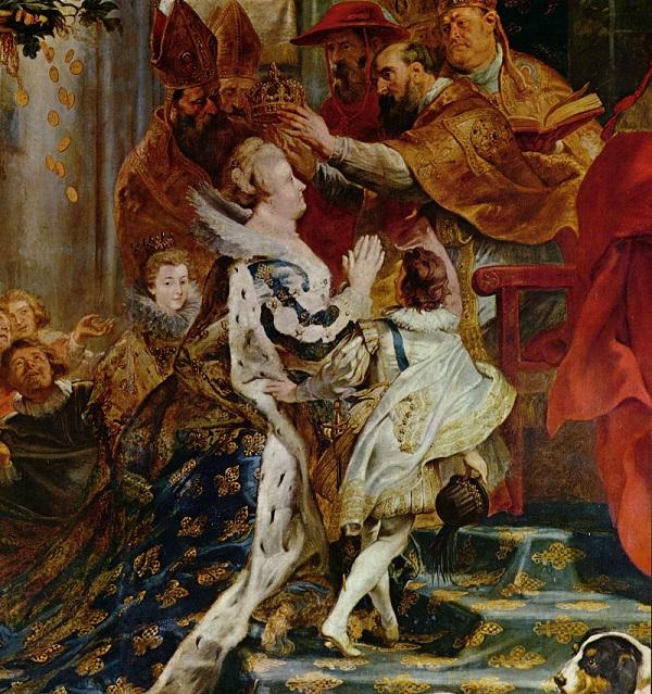 nella foto si vede Maria incoronata regina di francia dipinto da Peter Poul Rubens