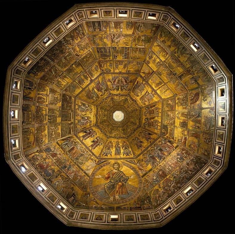 Mosaici all'interno della cupola del Battistero di Firenze